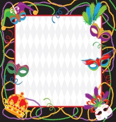 Mardi gras party invitation vector