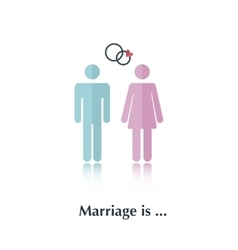 Marriage is vector image