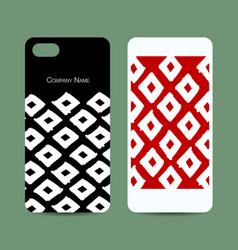 mobile phone design geometric fabric pattern vector image