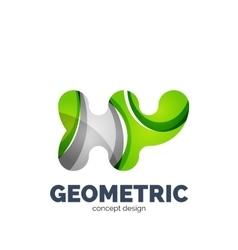 Modern abstract futuristic logo vector image