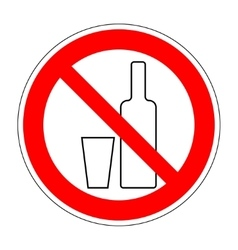 No drinking sign 903 vector image vector image