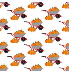 pumpkin harvest pattern vector image