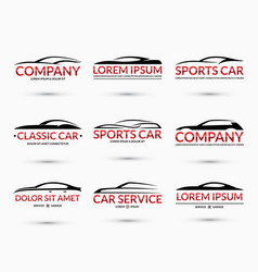 Set of car logo design templates vector