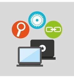 Technology social media concept vector
