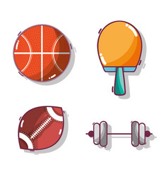 Tools set of different sports games vector
