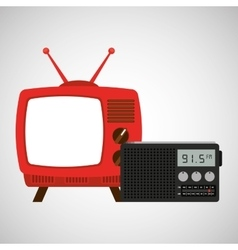 tv radio vintage news concept vector image