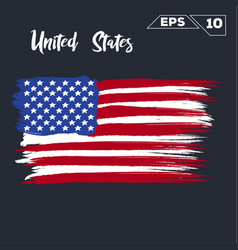 United states flag brush strokes painted vector