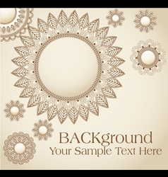 vintage flower pattern background vector image vector image