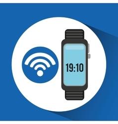 Watch wifi app social network vector