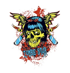 Zombie star vector image