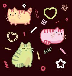 Cat kawaii style kitten kitty pet on vector