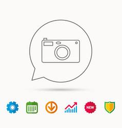 Photo camera icon photographer equipment sign vector