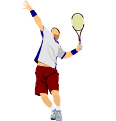 Al 0311 tennis player 03 vector