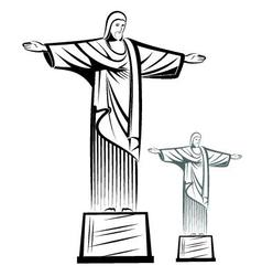 Christ the redeemer vector