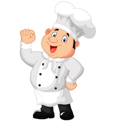 Gourmet chef giving an okay sign vector