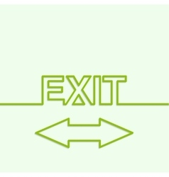 Inscription exit vector image