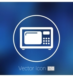 Microwave icon kitchen equipment electronics vector