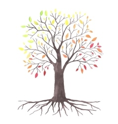 Lovely autunm tree vector