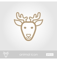Deer icon animal head vector