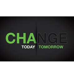 Green change background vector