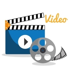 Movie and videofilm entertainment vector