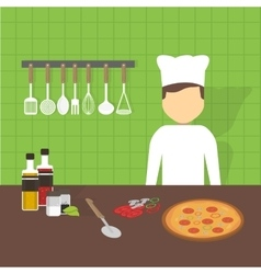 Workplace cook vector