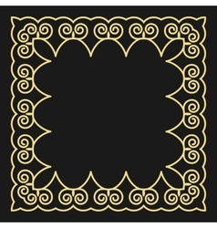 Frame in the fashionable outline style on a black vector