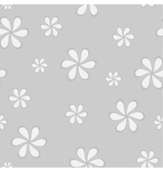 Grey seamless flowers background vector