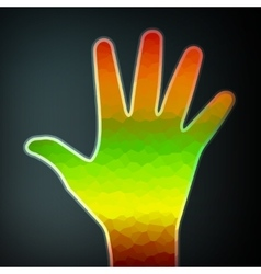 Abstract colorful hand vector image vector image