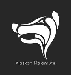 Alaskan malamute logo vector