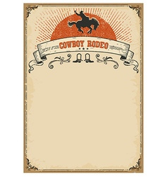 American western background for textcowboy rodeo vector