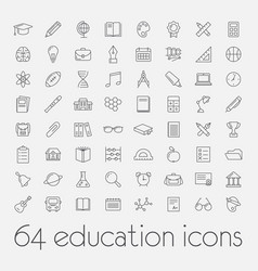 big set of education icons vector image
