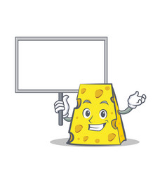 Bring board cheese character cartoon style vector