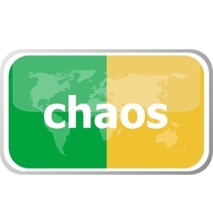 chaos Flat web button icon World map earth icon vector image