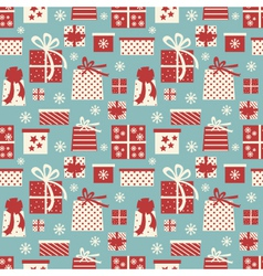 Christmas presents background vector