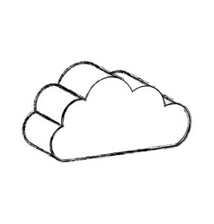 Cloud computing isolated icon vector