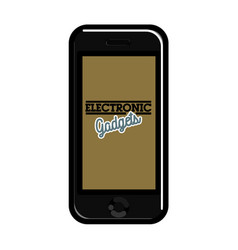 color vintage electronic gadgets emblem vector image vector image
