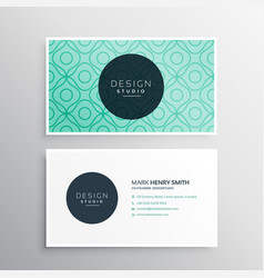 Corpotate business card design in minimal style vector