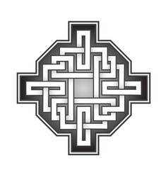 cruciform logo template in celtic knots style vector image