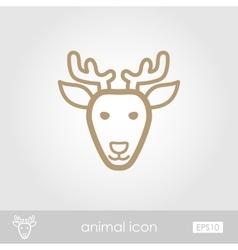 Deer icon animal head vector