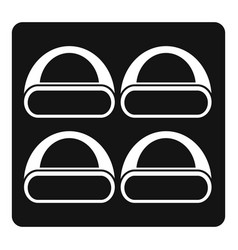 Different sushi icon simple style vector