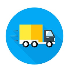 Fast shipping flat circle icon vector image