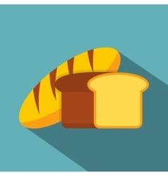 Fresh bread icon flat style vector