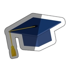 Graduation hat isolated vector
