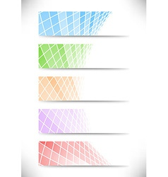 Halftone communicational headers or cards vector image