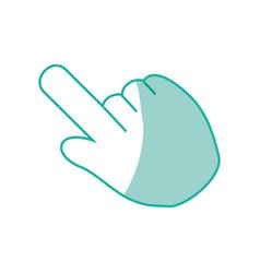 Hand click cursor vector