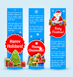 happy new year card banner set vector image vector image