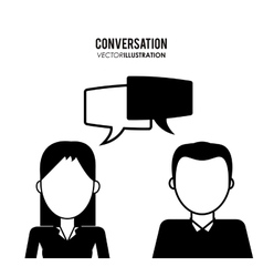 People and communication icons design vector image