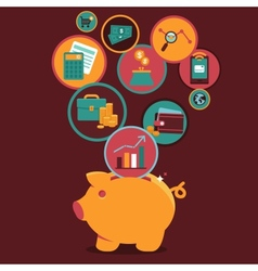 Personal Finance Control and management vector image