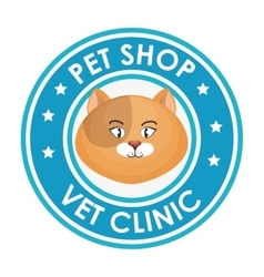 Pet shop vet clinic design graphic vector